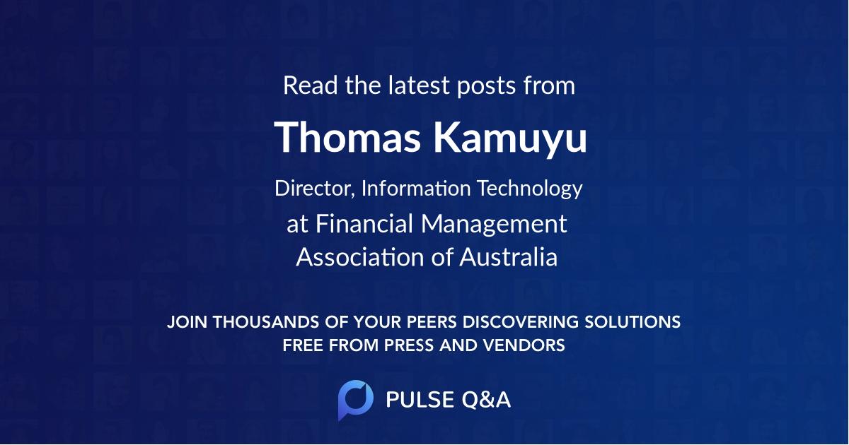 Thomas Kamuyu