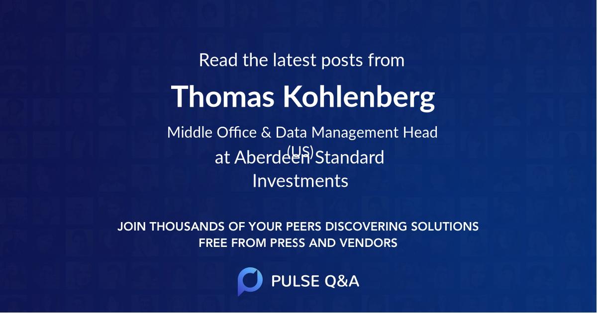 Thomas Kohlenberg