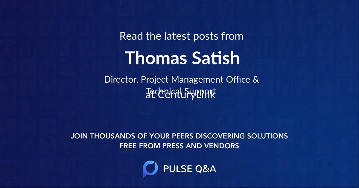 Thomas Satish