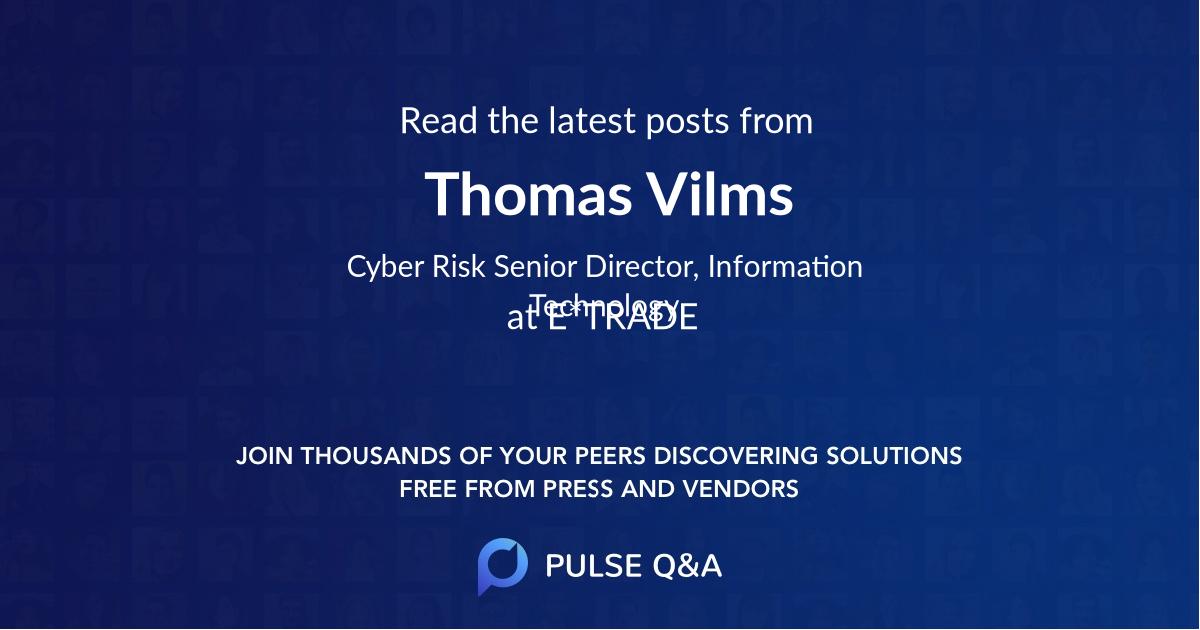 Thomas Vilms