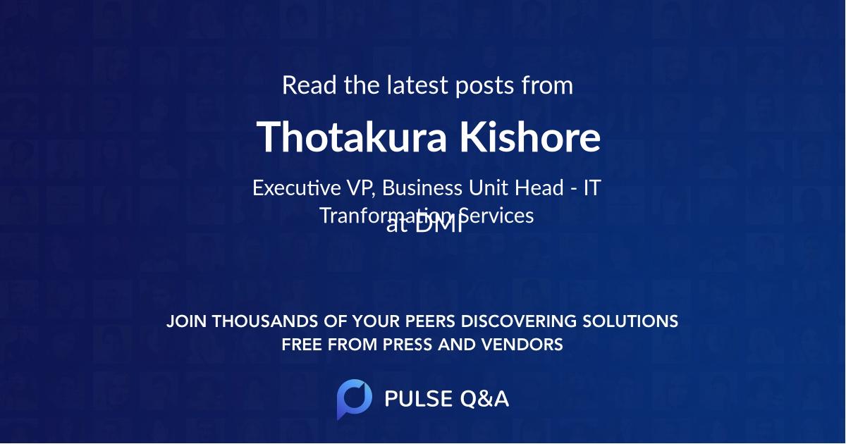 Thotakura Kishore