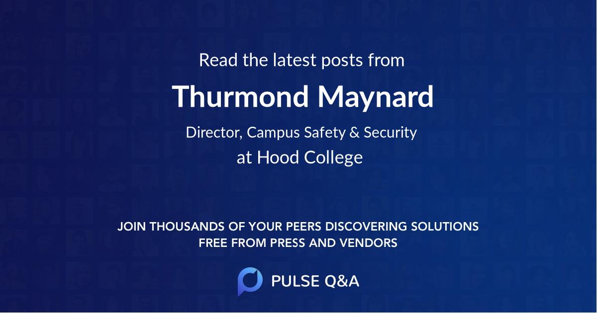 Thurmond Maynard