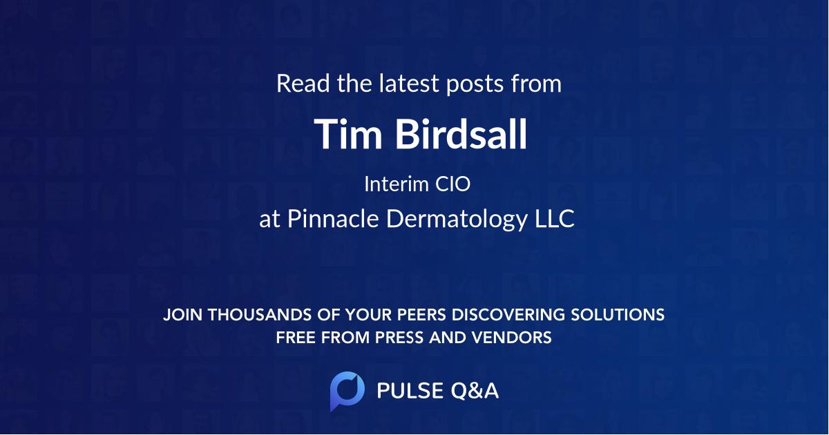 Tim Birdsall