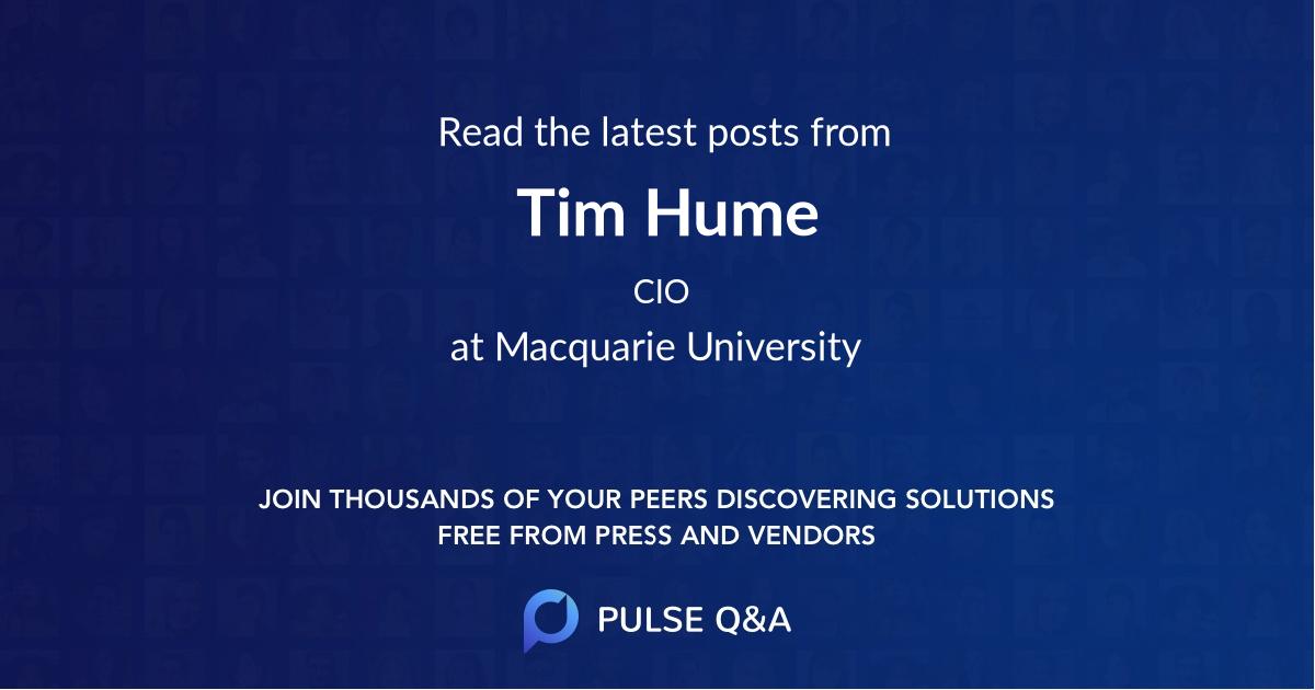 Tim Hume