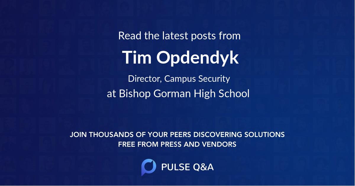 Tim Opdendyk