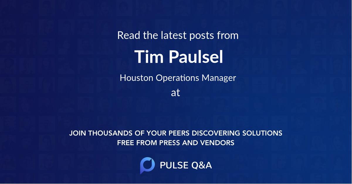 Tim Paulsel