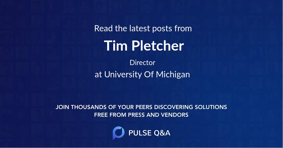 Tim Pletcher