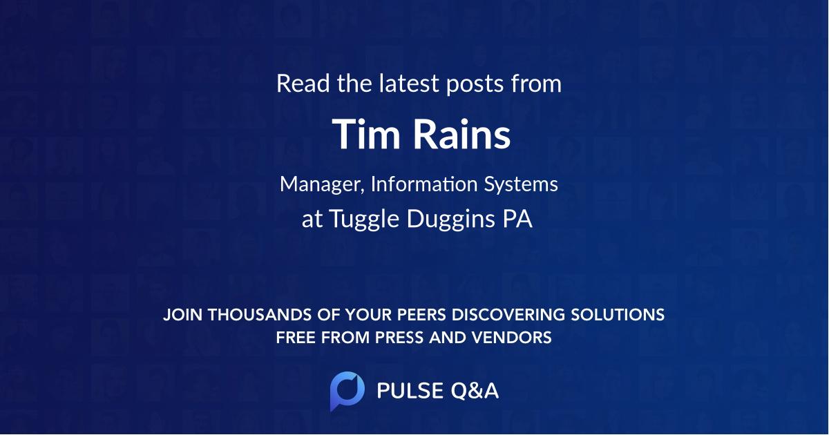 Tim Rains