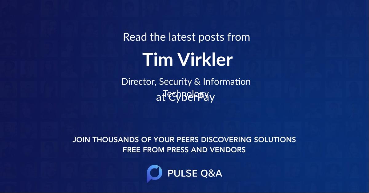 Tim Virkler