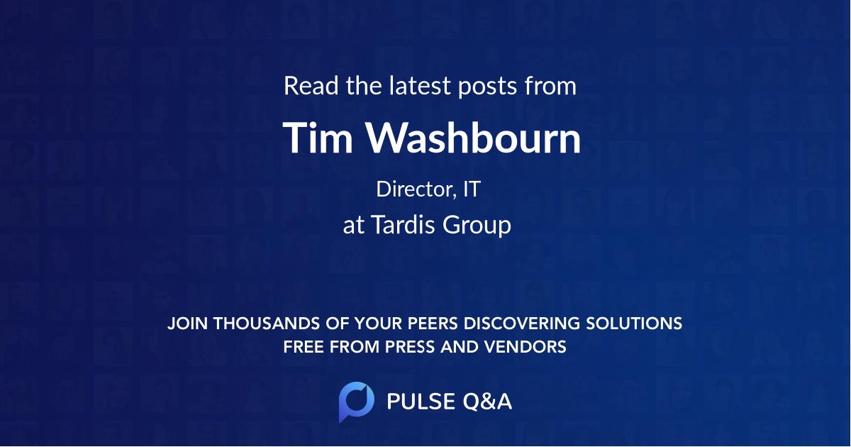 Tim Washbourn