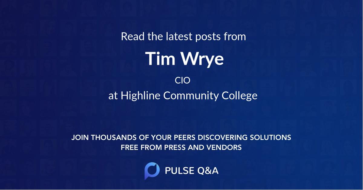 Tim Wrye