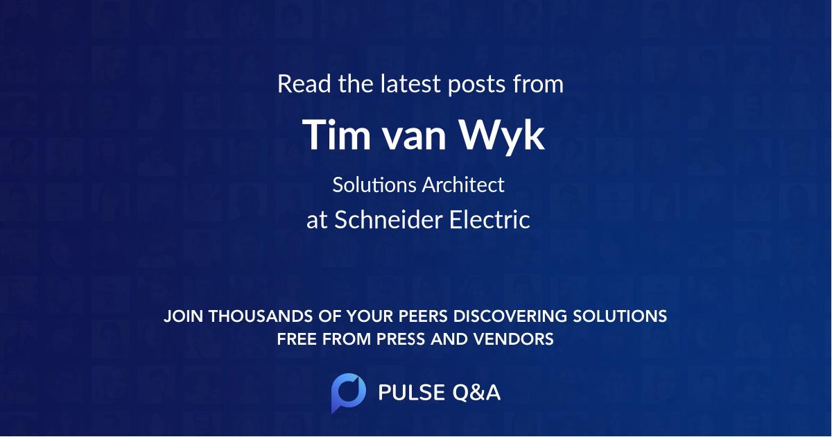 Tim van Wyk