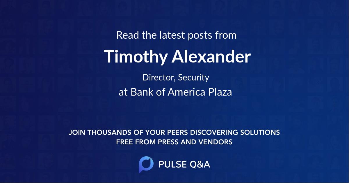 Timothy Alexander