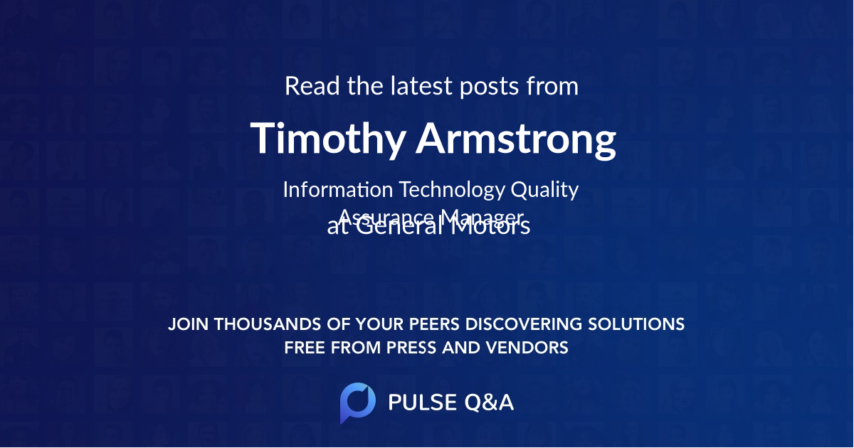 Timothy Armstrong