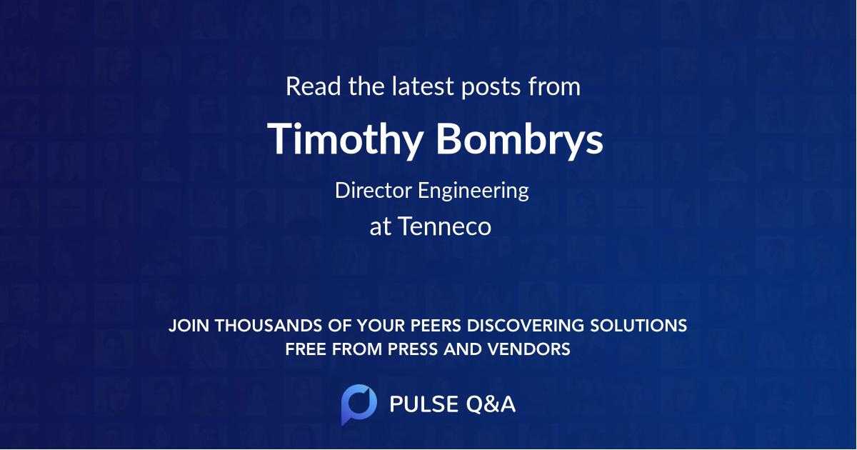 Timothy Bombrys