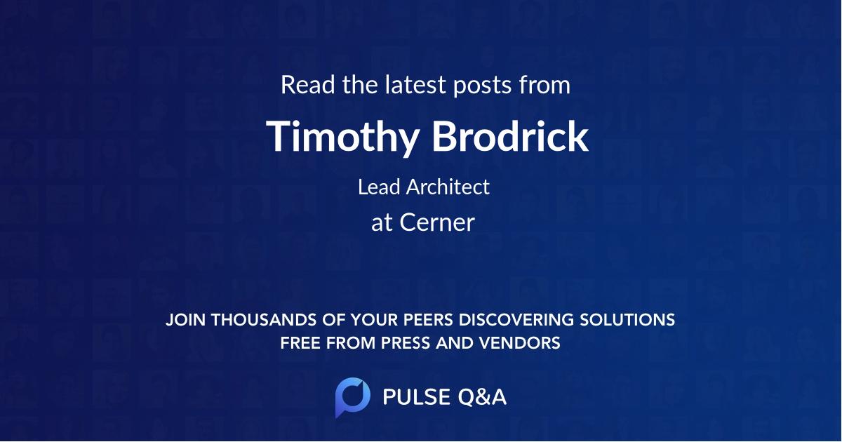 Timothy Brodrick