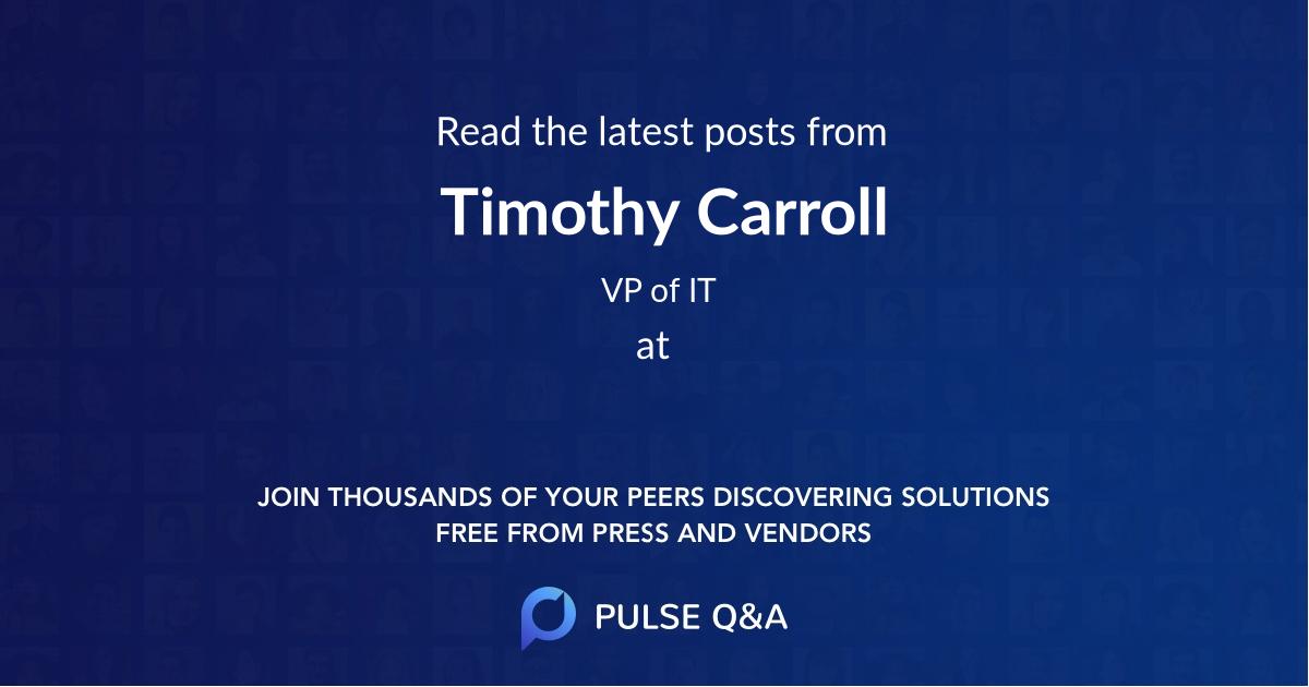 Timothy Carroll