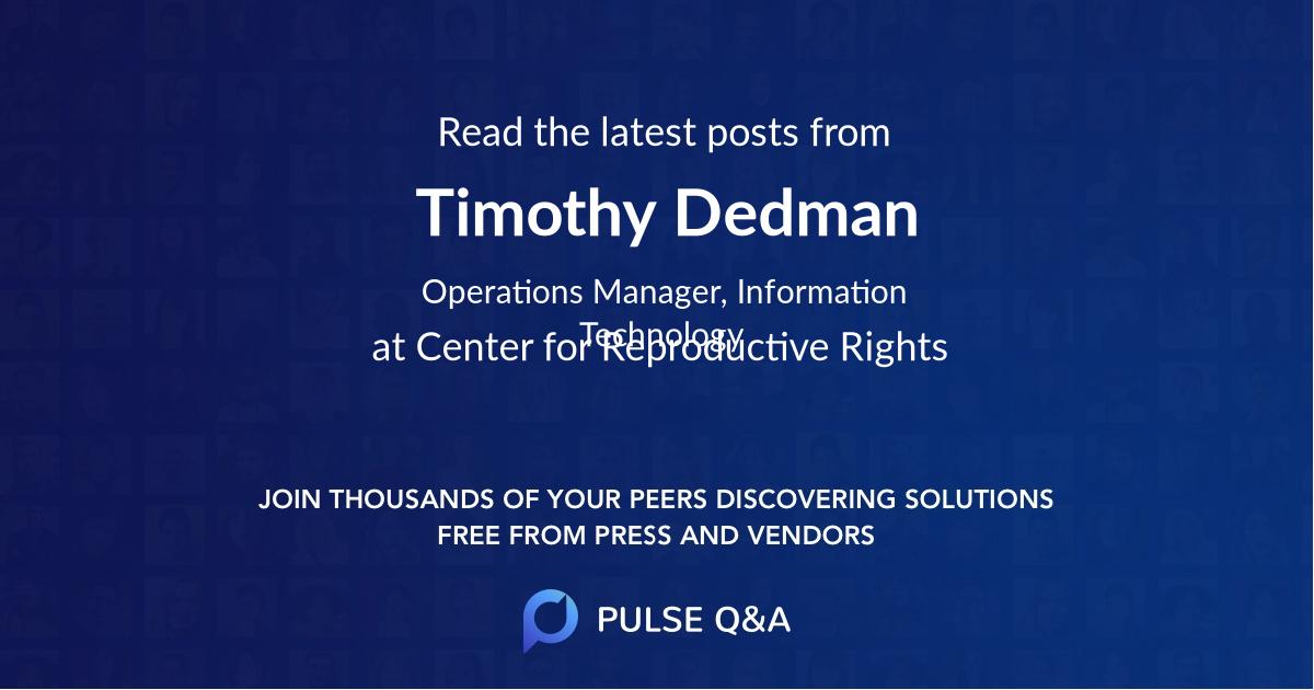 Timothy Dedman