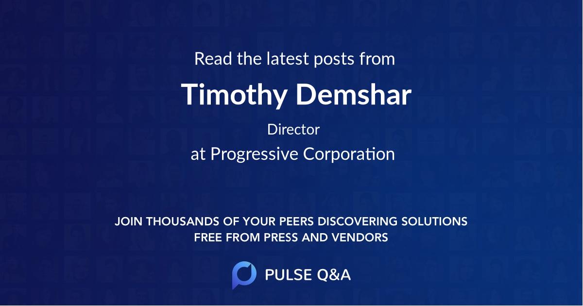 Timothy Demshar