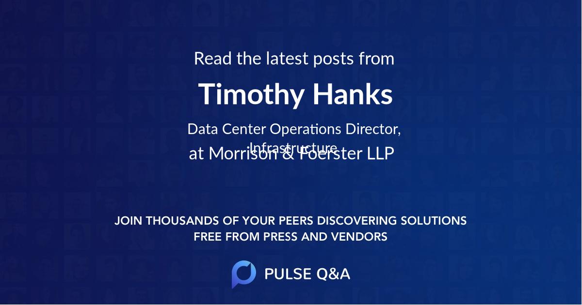 Timothy Hanks