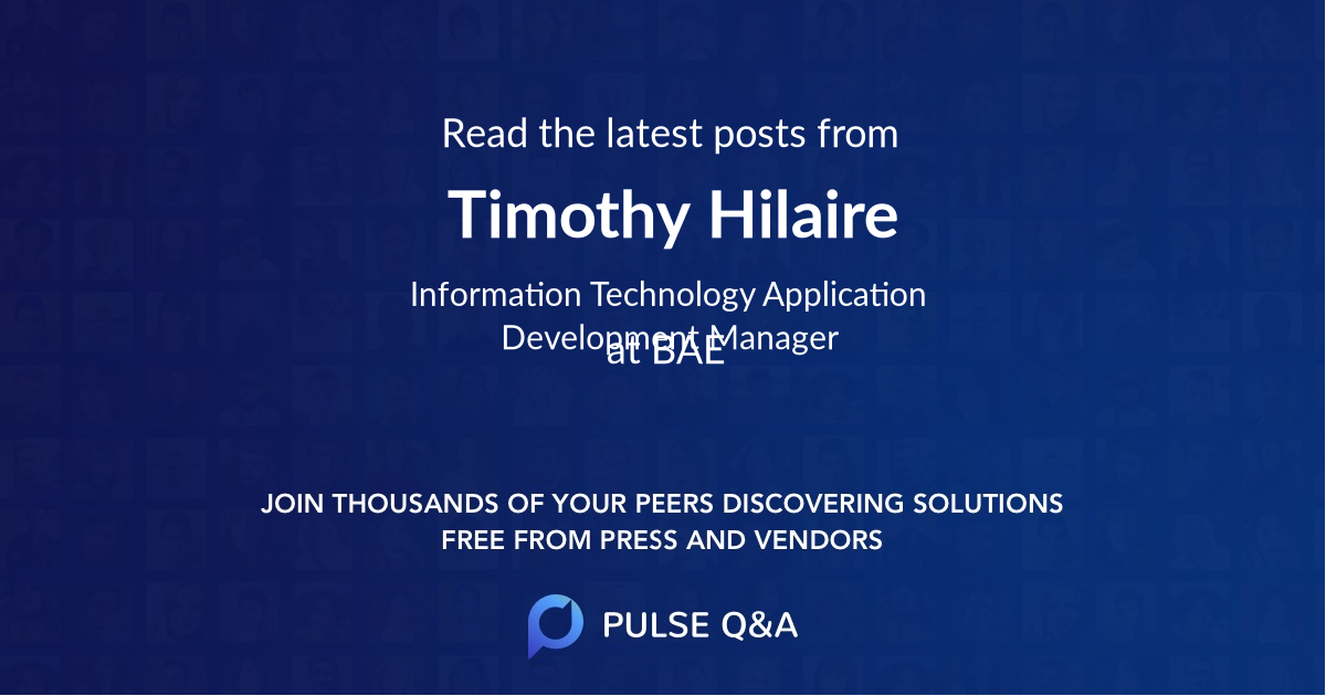 Timothy Hilaire