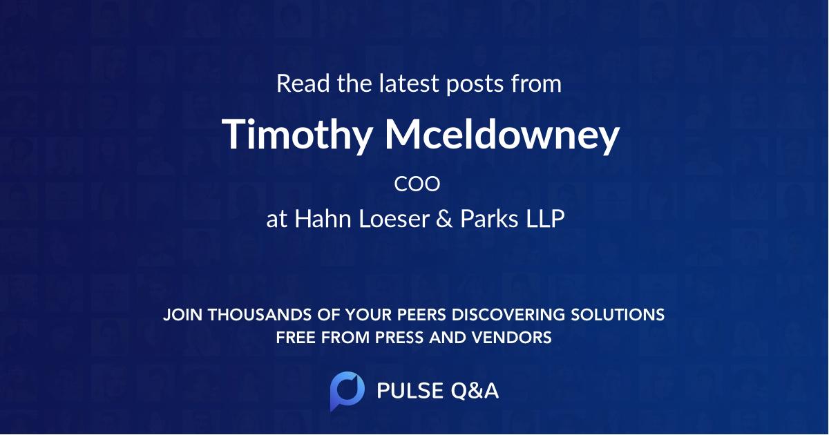 Timothy Mceldowney