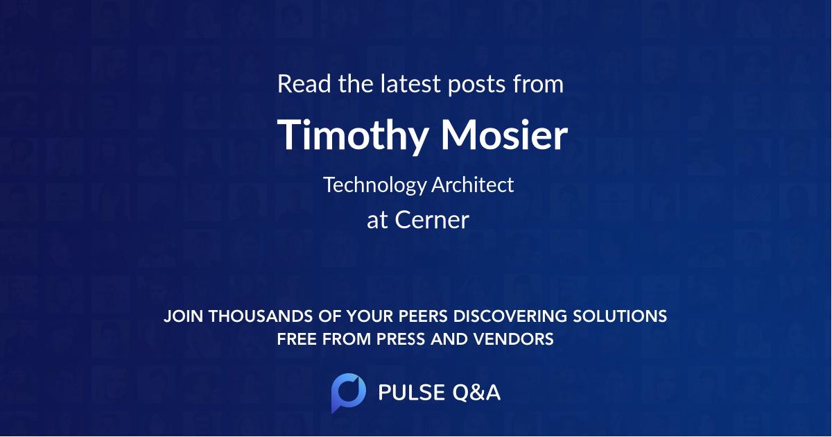 Timothy Mosier