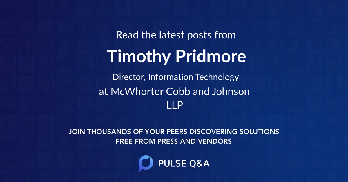 Timothy Pridmore