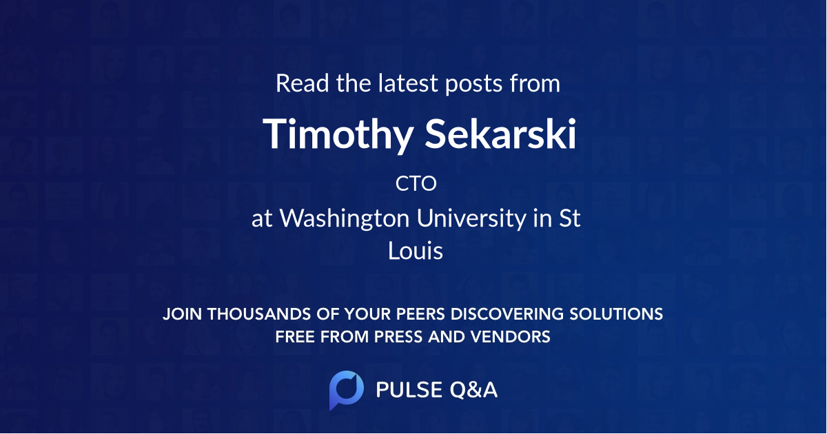 Timothy Sekarski