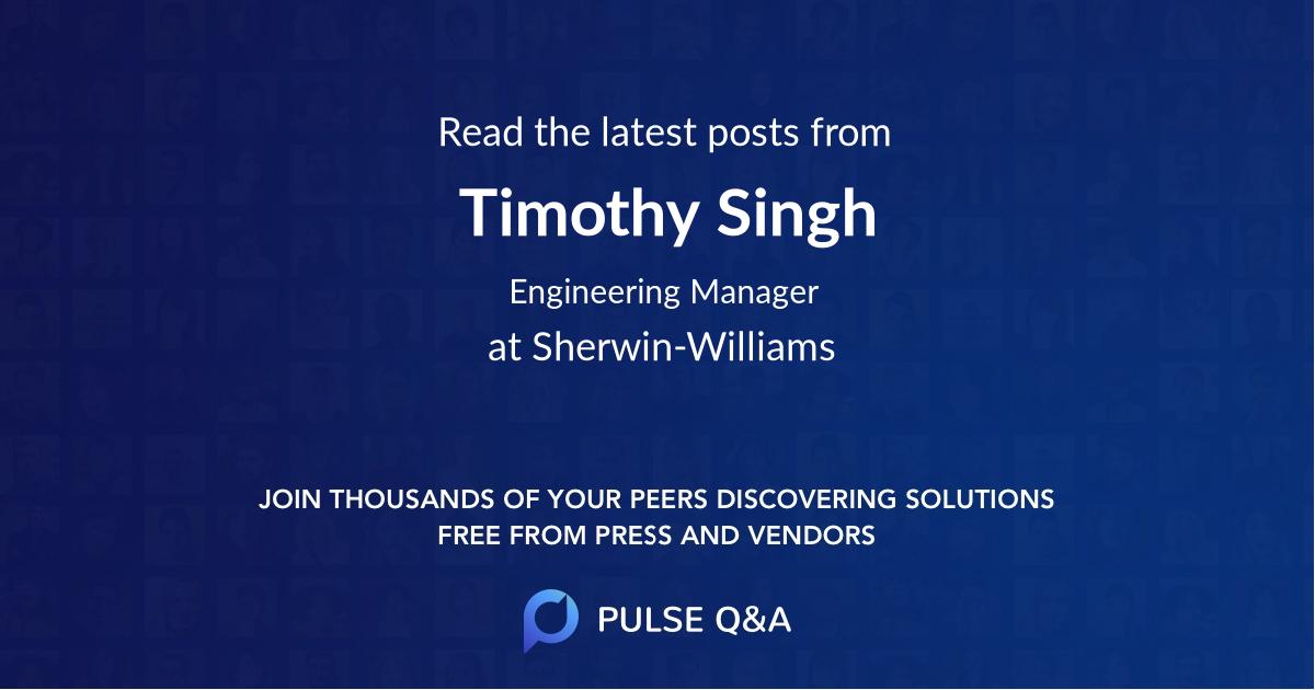 Timothy Singh