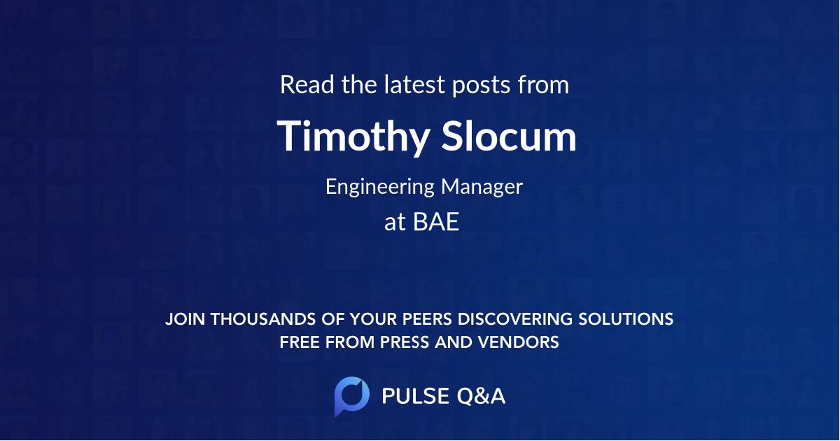 Timothy Slocum