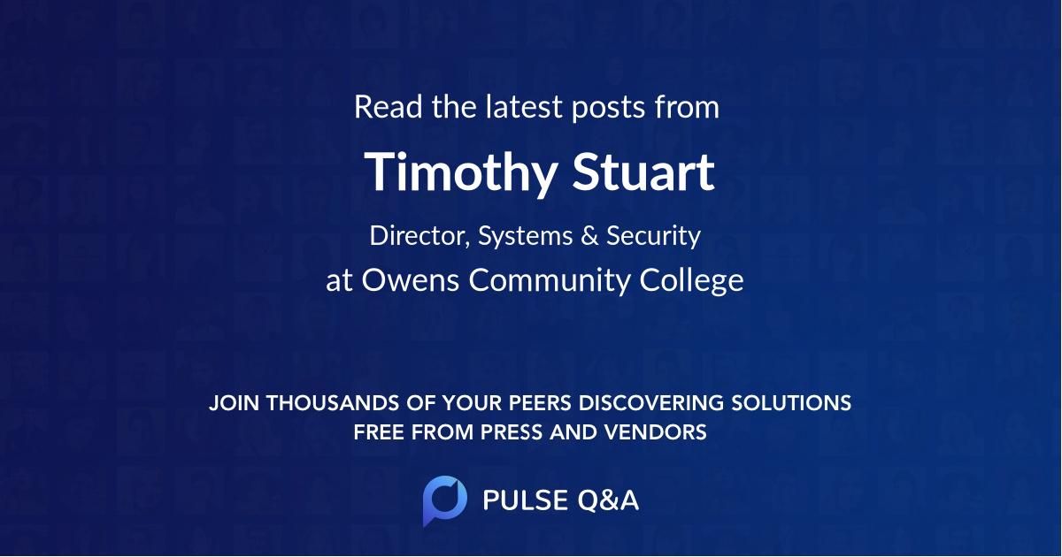 Timothy Stuart