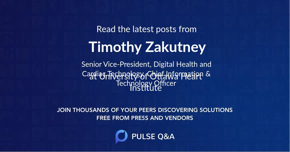 Timothy Zakutney