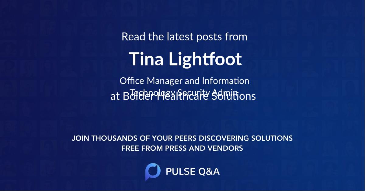 Tina Lightfoot