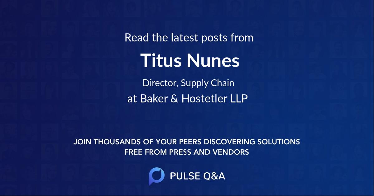 Titus Nunes