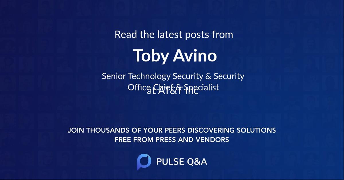Toby Avino