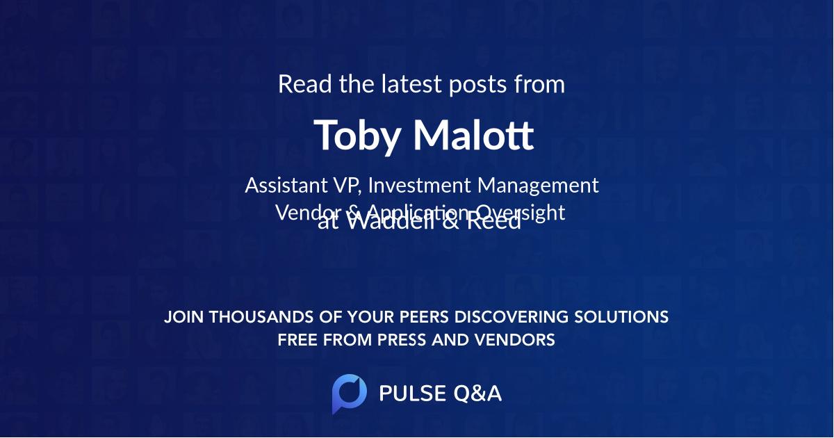 Toby Malott