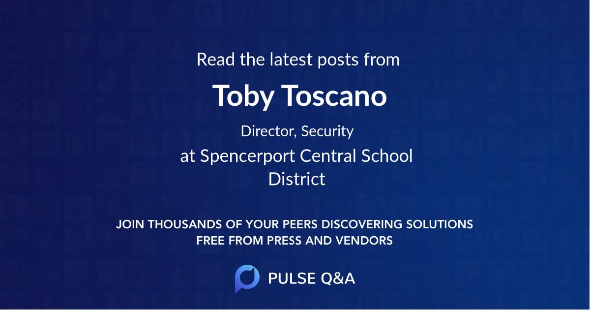 Toby Toscano