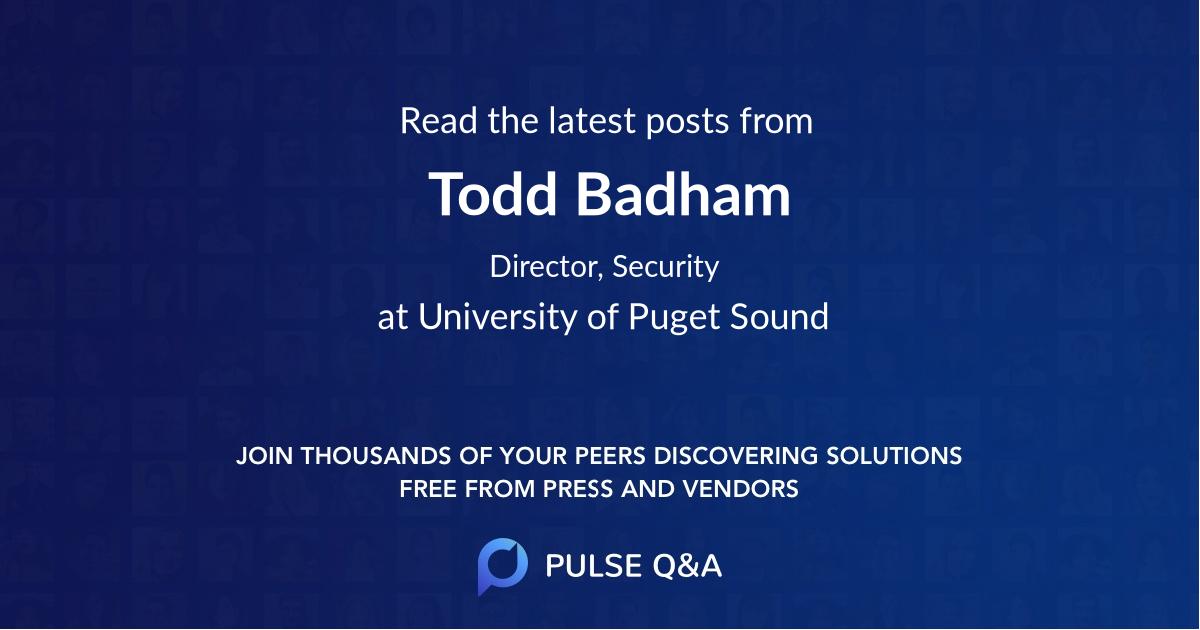 Todd Badham