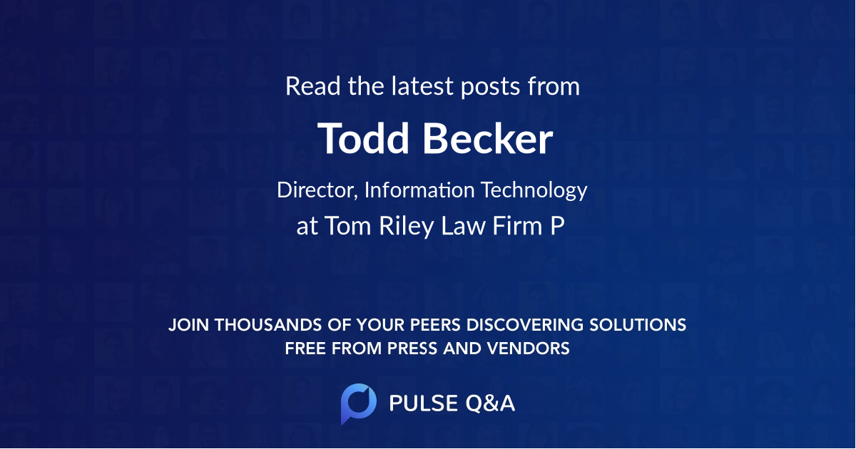 Todd Becker