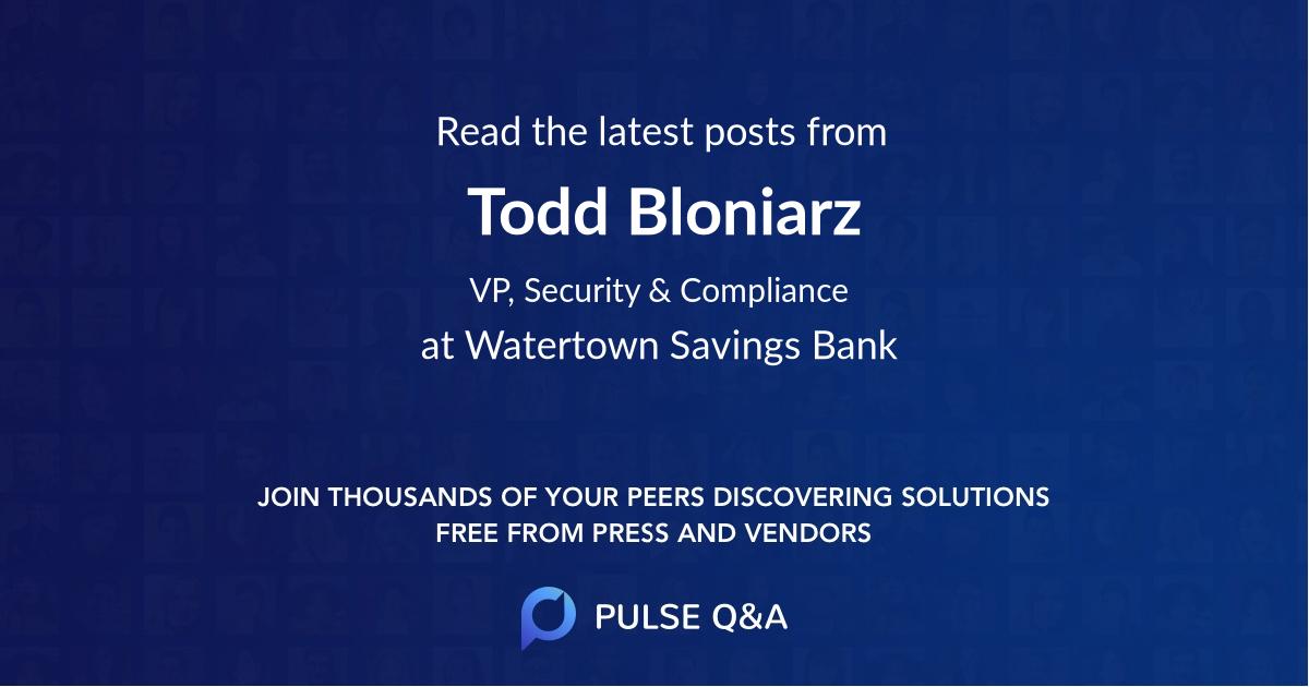 Todd Bloniarz