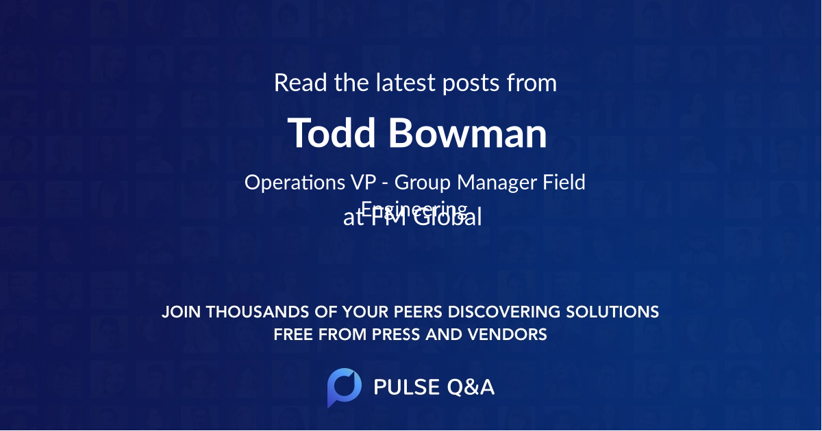 Todd Bowman