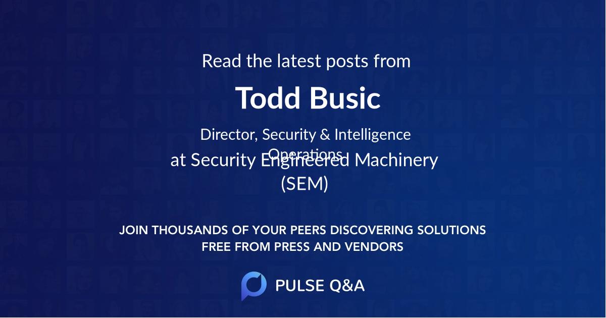 Todd Busic