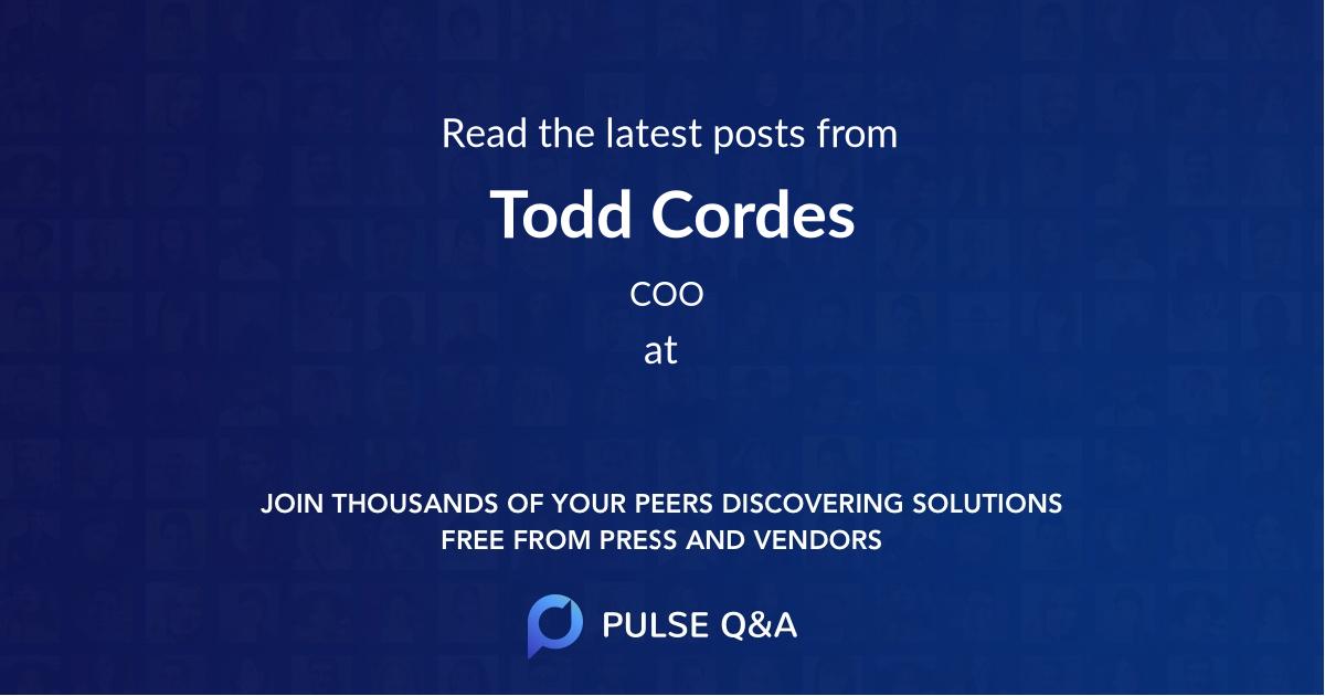 Todd Cordes