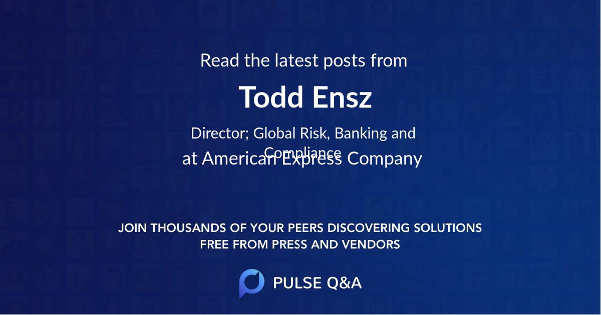 Todd Ensz