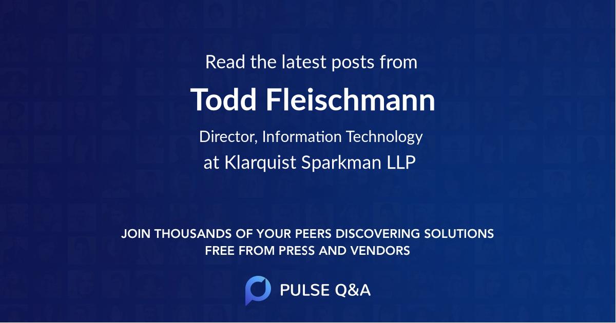 Todd Fleischmann