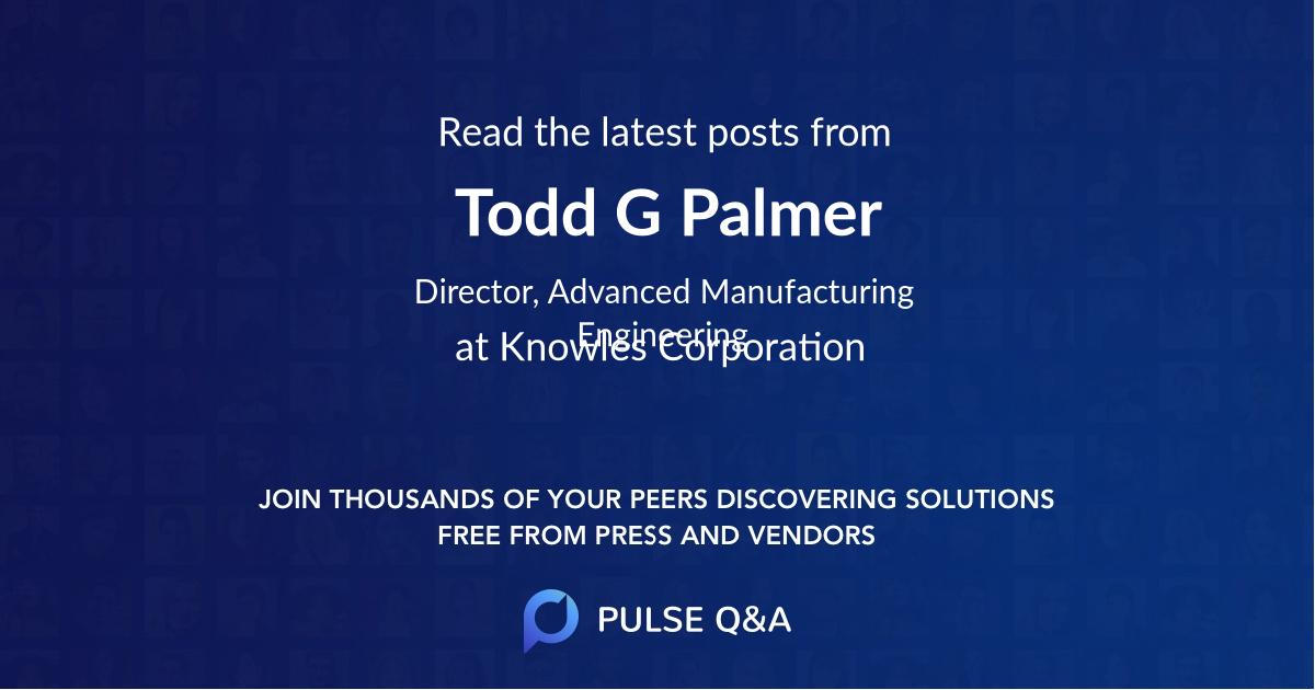 Todd G. Palmer