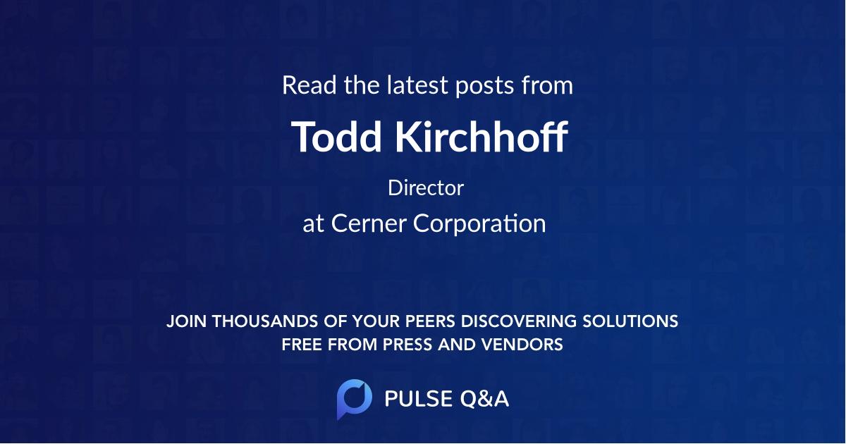 Todd Kirchhoff