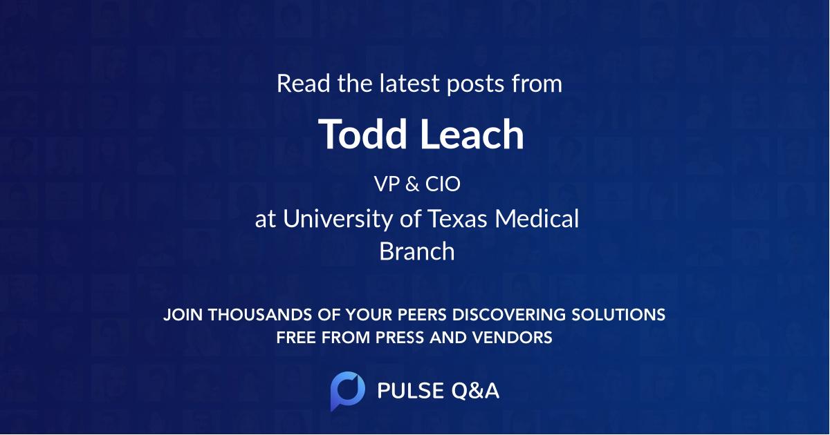 Todd Leach