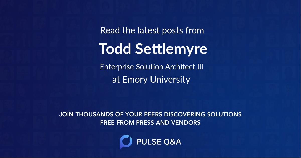 Todd Settlemyre